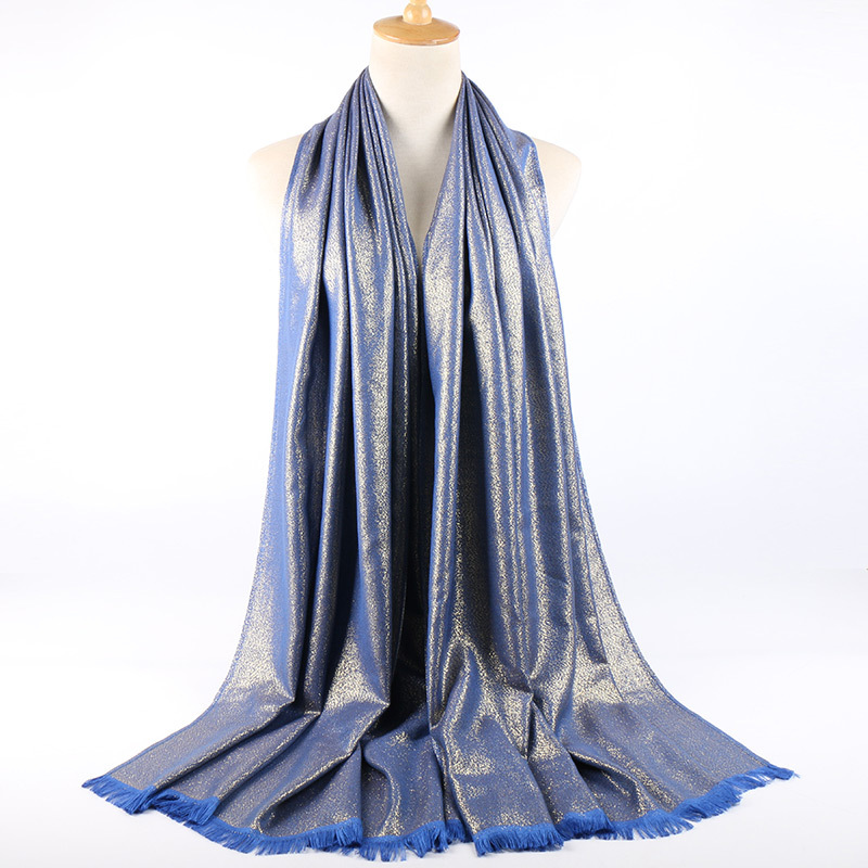 Luxury Brand 2019 Muslim Gold Silver Yarn Glitter Scarf Hijabs Middle Eastern Arab Head Scarf Islamic Cotton Headscarf Headwrap