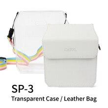 Pour Fujifilm Instax partager 3 SP 3 étui en cuir PU Smartphone pochette de protection instantanée sac avec bandoulière pour Fuji Instax SP3