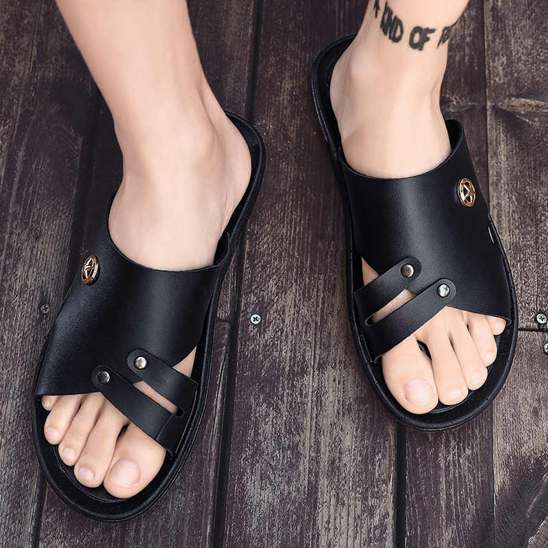 Fashion Men Summer Sandals Beach Slippers Casual Outdoor Shoes Non-slip Open Toe