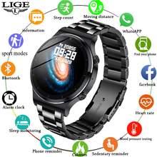 Мужские Смарт часы модные спортивные с сенсорным экраном bluetooth