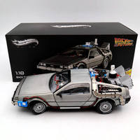 1/18 For Hot W Elite Back To The Future Time Machine Ultimate Edition BCJ97 Models Diecast Toys Hobbies Collection Gifts