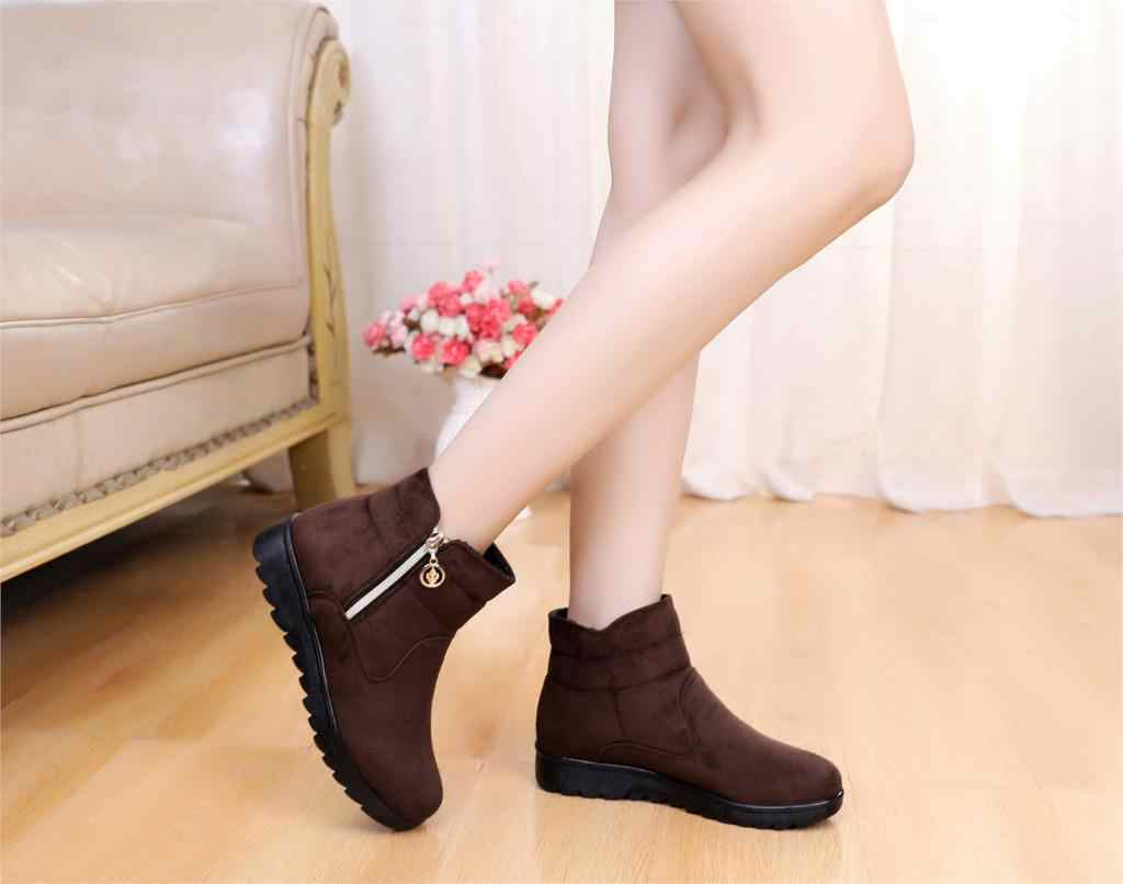 Snow Boots Women Winter Warm Fur Ladies buckle Platform Wedge Fashion Ankle Boot Female Comfort Casual Shoes Plus Size st480
