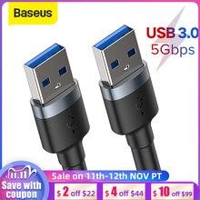 Baseus USB כדי USB כבל USB כבל מאריך USB זכר ל usb זכר לחכם טלוויזיה PS4 Xbox USB 3.0 כבל נתונים USB Extender קו