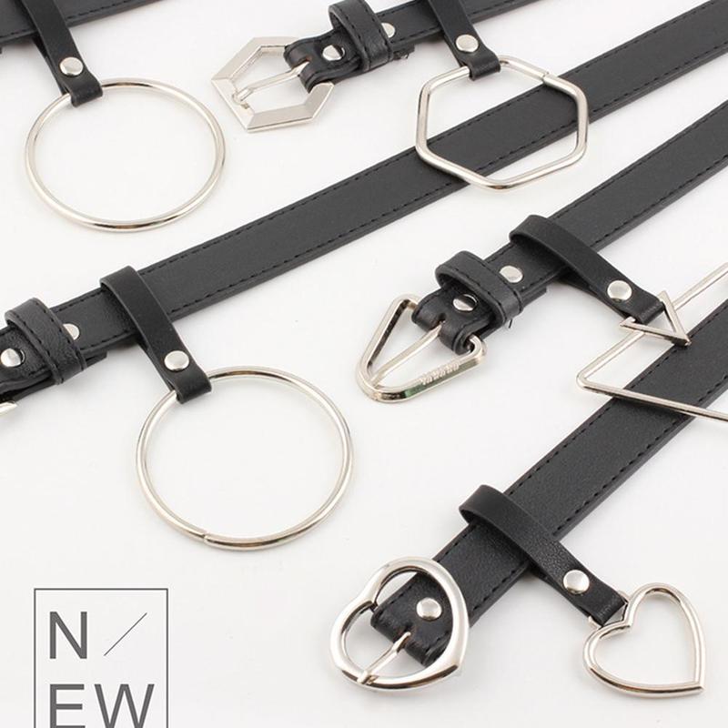Fashion Women Belt Black Buckle Decorated Denim Belt Creative Design Belt Waist Belts For Women Girls Pants Trousers Dress Skirt
