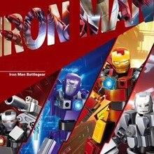 4pcs Avengers 4 Iron Man Battlegear Building Blocks Bricks Boy Toys B722
