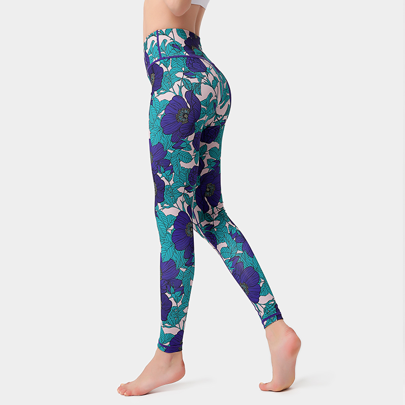 Calças de Yoga Novas Mulheres Imprimir Cintura Alta Esporte Leggings Fitness Secagem Rápida Correndo Jogging Calças Workout Gym xl