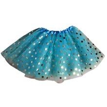 Танцевальный Костюм для маленьких девочек; юбка; вечерние балетные фатиновые юбки-пачки принцессы с золотыми точками