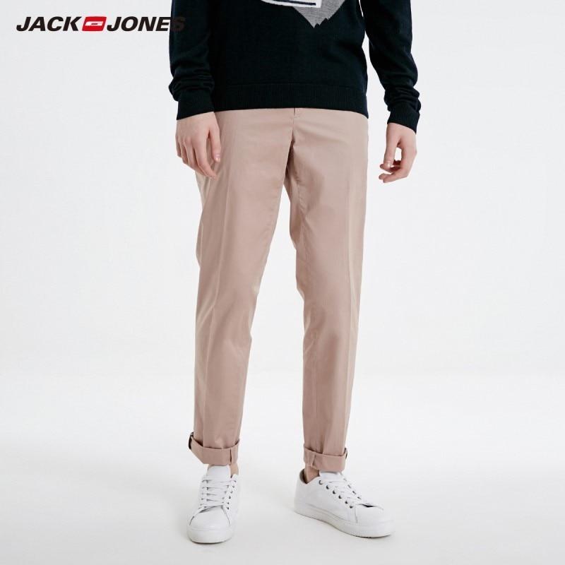 JackJones Men's Stretch Cotton Solid Pants Business Casual Menswear Basic 219114547