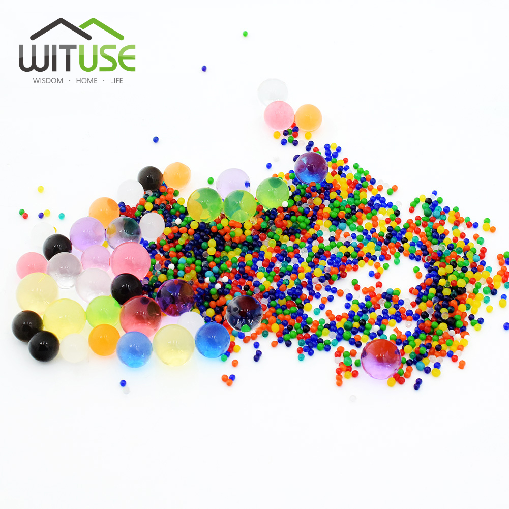 10000pcs/bag Crystal Soil Mud Hydrogel Gel Kids Children Toy Water Beads Growing Up Water Balls Wedding Home Potted Decoration