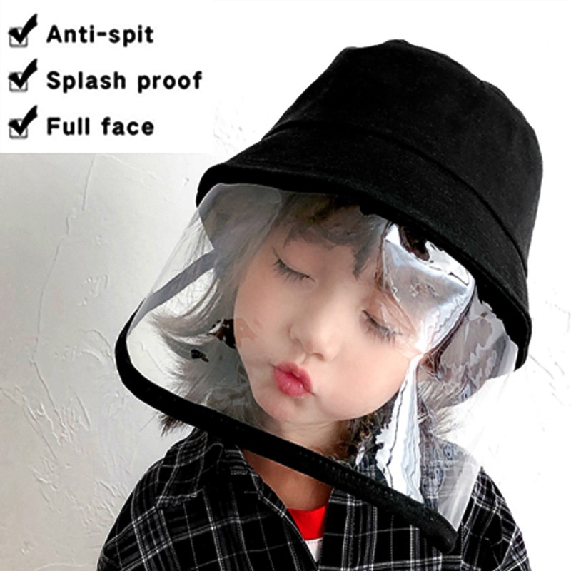 New Fashion Fishermans Clear Bucket Hat Multi-function Dust-proof Anti-saliva Sunproof Protective Cap Windproof Anti-fog Outdoor