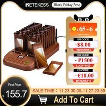 Retekess T116 레스토랑 호출기 20 호출기 수신기 최대 998Pcs 커피 숍 클리닉 레스토랑 무선 호출 시스템