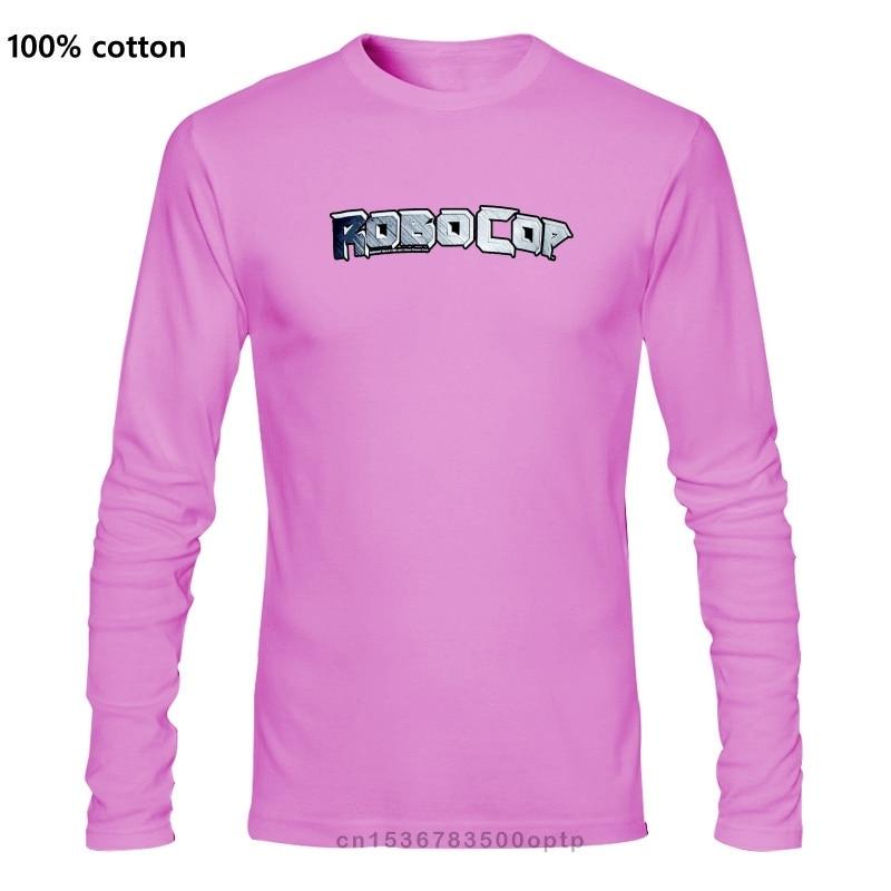 Оригинальная Серебристая футболка с логотипом ROBOCOP, размеры S, M, L, XL, XXL, новая крутая Повседневная футболка с принтом гордости, Мужская футбо...