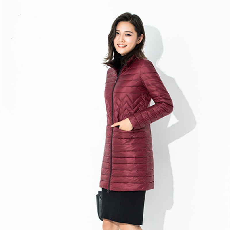 Frivolous   Down   Jackets Girls Long Fund Self-cultivation Stand Lead Will Code Loose   Coat   Suit-dress