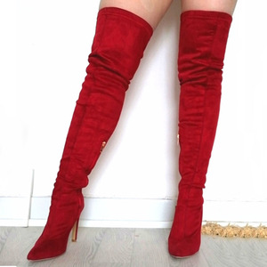 Image 3 - Brand New womens shoes woman Plus Large big size 32 48 over the knee boots thin high heel sexy Party Boots botas de mujer 2020