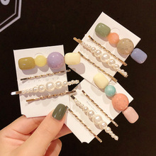 4Pc Hairpins With Pearl Hair Clip Hairband Comb Bobby Pin Barrette Hai