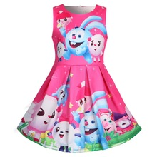 Baby girls Summer Princess dress cartoon print party Dresses Children Clothing For Girl Birthday unicornio Dress doll 5811 цены
