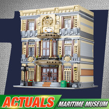 DHL, 01005, 5052 шт., креативный город МОС, серия, морской музейный набор, строительные блоки, кирпичи, детские рождественские игрушки, модель, подарки