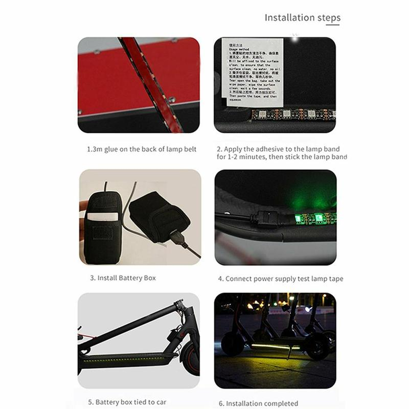 For Xiaomi M365 Electric Scooter Kit Light Strip Lamp Band LED Chassis Light Lot