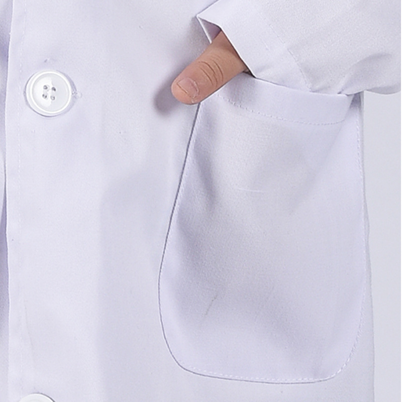 1 Pcs Children Nurse Doctor White Lab Coat Uniform Top Performance Costume Medical Hot Sales