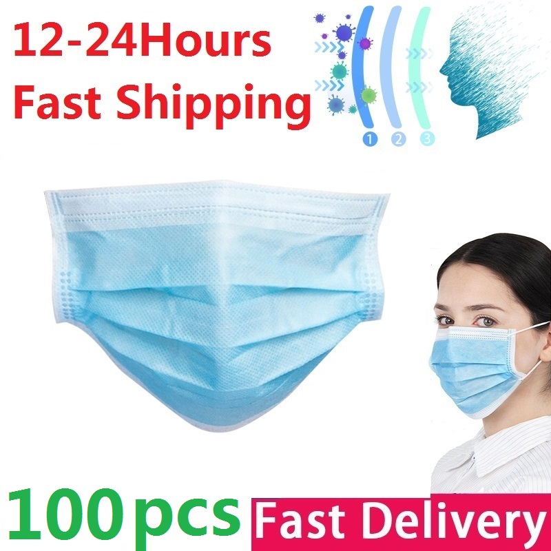 3 Layer Disposable Mask Anti Dust Mouth-muffle Face Masks Men Women Anti Fog Breathable Mouth Cover Face Protective Masks