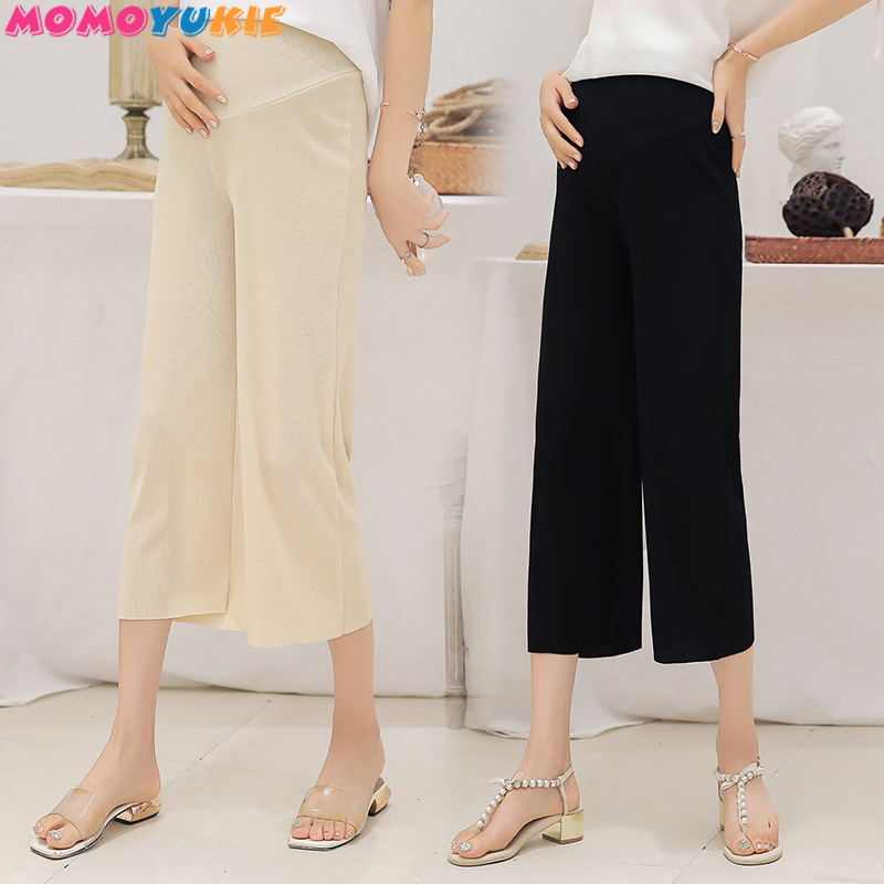 Maternity Wide Leg Pant Elastic Waist Belly Pregnancy Trousers Summer Women Pants for Pregnant Big Loose Pant Pregnancy Clothes