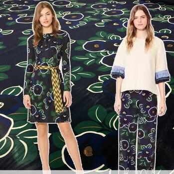 145cm wide printed fabric meter brand digital printing fabric fashion dress handmade DIY fabric wholesale cloth