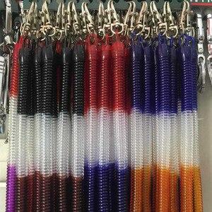 Image 5 - DHLfree 500 шт Черная Выдвижная пружинная катушка спиральная растягивающаяся цепь брелок пружинная веревка