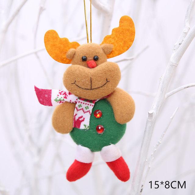 New Year 2020 Cute Santa Claus/Snowman/Angel Christmas Dolls Noel Christmas Tree Decoration for Home Xmas Navidad 2019 Kids Gift 59