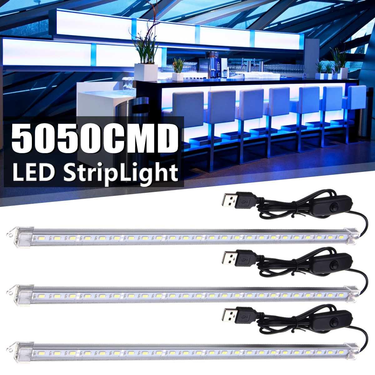 35CM USB LED Tube With Switch 7W 24 SMD 5630 USB LED Rigid Strip Hard Bar Light Tube Lamp DC5V