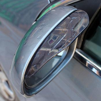 2 sztuk pcv samochodów naklejka nad lusterkiem wstecznym deszcz brwi Auto boczne lustro deszcz deska tarcza osłona przeciwsłoneczna śnieg straż obudowa ochronna tanie i dobre opinie JDM RACING PVC black transparent 18cm x 5 5cm coming with 3M Adhesive mirror style of various cars Car Rear View Mirror Sticker Rain Eyebrow