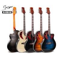 41 inch electric box folk guitar back plastic dual grape hole Spruce guitar Steel string acoustic guitar