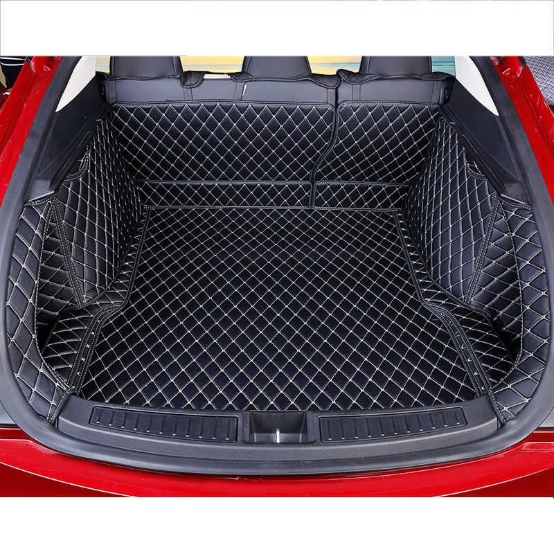 lsrtw2017 for Tesla Model S leather car trunk mat cargo liner accessories luggage 2012 2013 2014 2015 2016 2017 2018 2019 2020