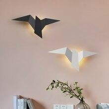 Настенная лампа в скандинавском стиле с птицами креативный индивидуальный