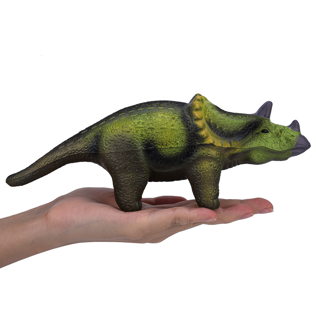 Squishy Kawaii Gigantes Mini Squeeze Toys Squishy Soft Triceratops Slow Rising Collection Stress Reliever ToyW725