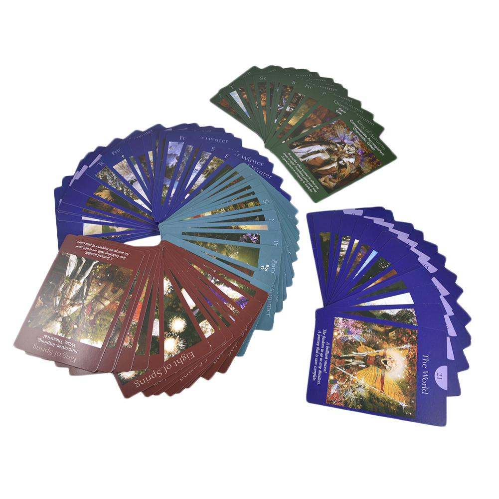 Fairy Tarot Cards:78 PCS Custom Tarot Cards Deck Games Tarot Card To Read The Mythical Divination Fairies Card Games Party Game