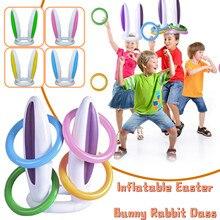Свитком \ заячьи кроличьи уши шляпа & кольцо бросить Пасха Детские спортивные игры, игрушки brinquedos juguetes детские игрушки антистресс