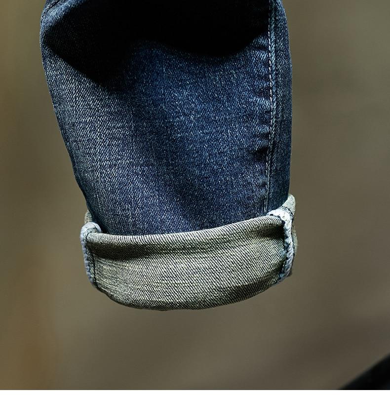 KSTUN Slim Fit Jeans Men Stretch Blue Fashion Mens Brand Jeans Casual Denim Pants Men's Clothing Male Long Trousers Wholesale 18