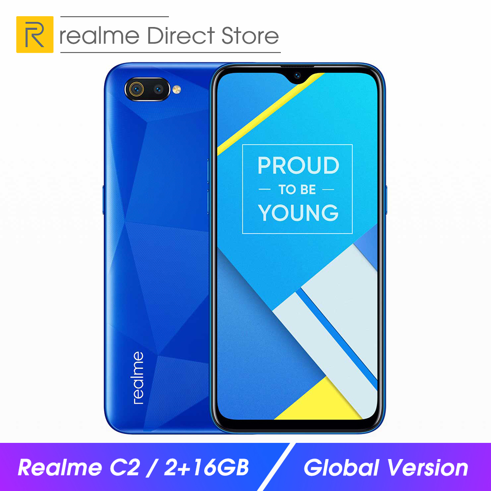 "Global Version OPPO realme C2 2GB RAM 16GB ROM smartphone 6.1"" Full Screen Smart Moblie Phone 4000mAh Dual Camera"