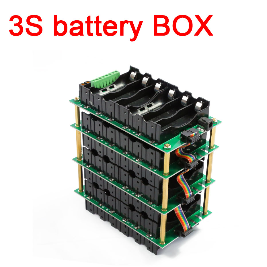 DYKB 3S battery Box 12V 18650 power wall 3s battery pack 3S bms li-ion Lithium battery BMS PCB 40A 80A Protection board image