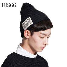 купить 2019 Winter Hats for Women Beanies Knitted Letter Warm Hip-hop Beanie Hat Unisex Cap Soft Skullies Fashion Accessories дешево