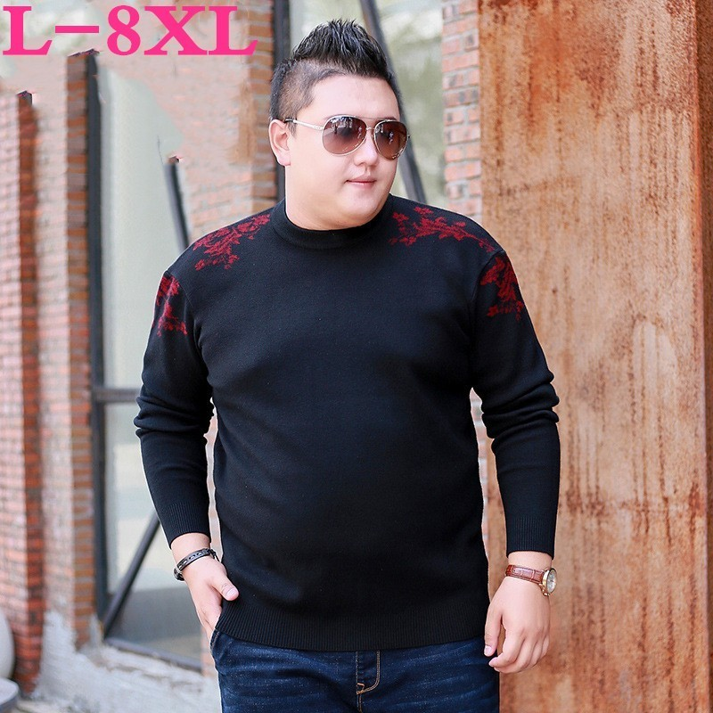 Plus Size 8XL 7XL Brand  New Sweaters  Men Fashion Style Autumn Winter Patchwork Knitted Quality Pullover Men Casual Men Sweater