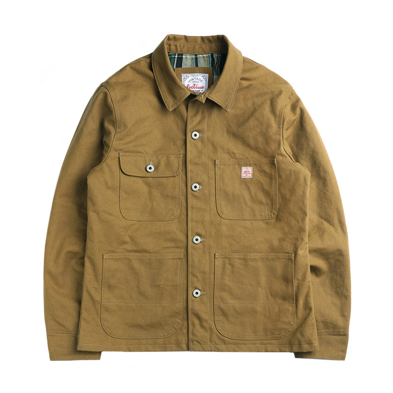 JK-0001 Read Description! Asian Size Very Good Quality Cotton Canvas Wax Water Proof Chore Coat