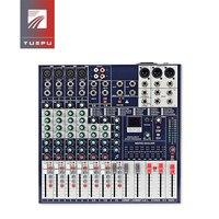 YUEPU RU 8Ts Professional Sound Audio Mixer 8 Channel 48V Phantom Power Reverbration Mixing Console Player USB Music For DJ