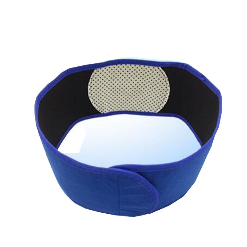 Adjustable Waist Support Tourmaline Self-heating Magnetic Therapy Waist Belt Lumbar Support Back Brace Double Banded Lumbar Blue