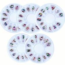 12 шт/кор 3d кристаллы камня для украшения ногтей и Стразы ab