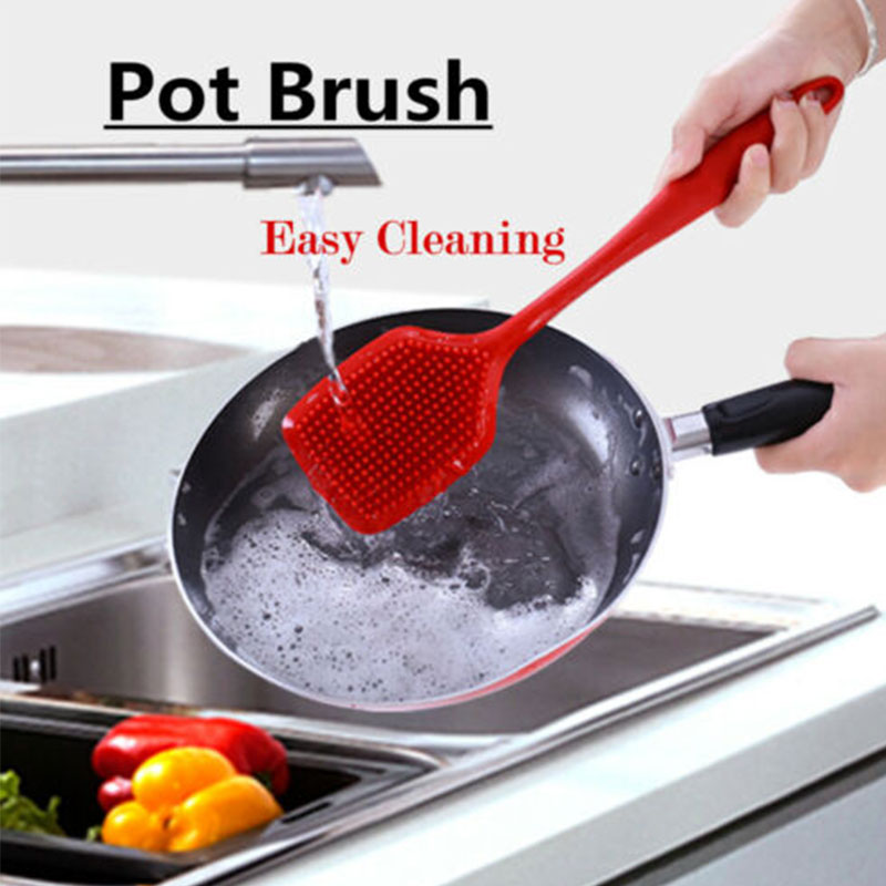 Multi functional Practical Durable Silicone Dish Washing Up Brush Cleaning Tool Pot Pan Kitchen Accessories in Cleaning Brushes from Home Garden