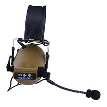 FCS C3 Headset COMTAC3 Pickup Noise Reduction Kopfhörer Tactical Headset - Tan Normalen Ohr Pad(China)