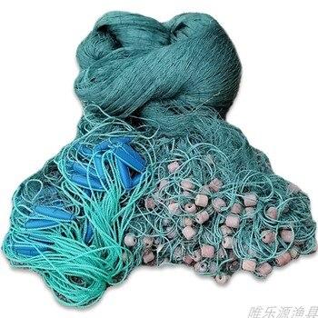 9 strands line pull net H2m*L10M fishing net trawl net red de pesca fishing network fishing accessories fishing gear stone buoy