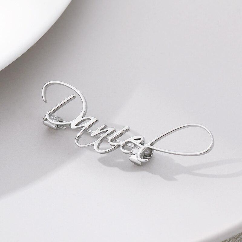 Cursive Font Custom Name Brooches Pins