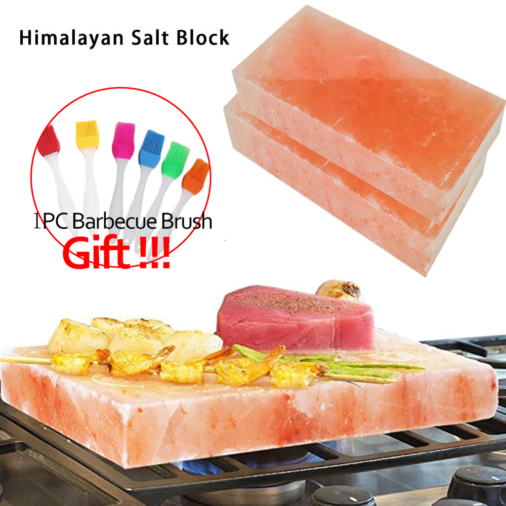 Himalayan Salt Block Barbecue Salt Slab For Outdoor Camping Cooking Accessories Edible Salt Portable Barbecue Salt Brick